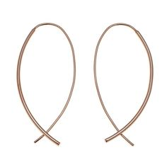 Sevilla Silver™ with Technibond® Shepherd's Hook Earrings - Rose