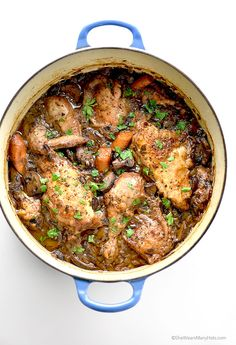 Delicious and Easy Coq au Vin Recipe from shewearsmanyhats.com
