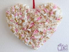 Gilded Coffee Filter Valentines Heart