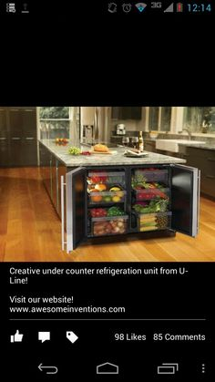 If you are looking for smart kitchen interior designs that you can use for your own home space, this is the article that you should be reading. OH MY FUTURE HOME Smart Kitchen, New Kitchen, Kitchen Storage, Kitchen Dining, Kitchen Decor, Island Kitchen, Awesome Kitchen, Island Food, Fridge Storage