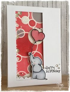 Mama Elephant - Ellie, Creat a smile stamps - Sending Sunshine Kit, Shakercard