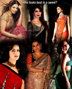 Who looks best in a saree?
