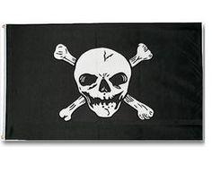 Mil-Tec Fahne Totenkopf Pirat, Jolly Roger, 90x150cm / mehr Infos auf: www.Guntia-Militaria-Shop.de