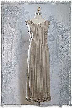 Devon Frock in Antique Striped Cotton by Ivey Abitz. A wonderful every day wearer.