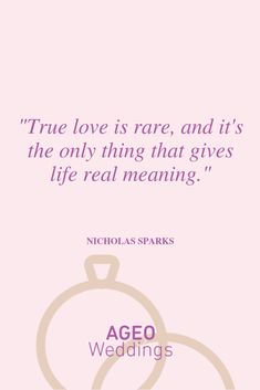 True love is rare and it's the only thing that gives life real meaning - Nicholas Sparks Most Beautiful Love Quotes, Nicholas Sparks, True Love, Meant To Be, Place Card Holders, Album, Life, Real Love