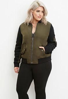 6cccfb8483d69 Forever 21. Forever 21 PlusShop ForeverPlus Size OuterwearOuterwear JacketsBomber  ...