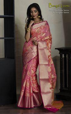 Chanderi Cotton Banarasi Saree