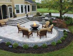 Super Ideas For Backyard Layout Ideas Diy Patio Design Concrete Patios, Concrete Backyard, Large Backyard Landscaping, Backyard Layout, Backyard Patio Designs, Landscaping Ideas, Backyard Ideas, Patio Ideas, Pool Backyard