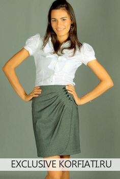 58c08e72043 Просто чудо! Эта эффектная юбка с запахом - базовая вещь любого гардероба.  Главным акцентом