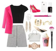 """""""Strictly business"""" by laurengrace12 ❤ liked on Polyvore featuring Alice + Olivia, WithChic, Brian Atwood, Monki, Topshop, Sharpie, Michael Kors, Charlotte Russe, Essie and Maison Margiela"""