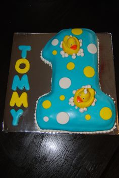 First birthday duck cake