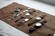 A great example of how you can store your watches in a stylish and efficient way! Kudos to Andreas Weinås of King Magazine! Also, the watches are amazing.
