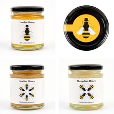 London Honey packaging — Red Stone