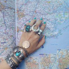 rings bracelets cuffs boho hippie bohemian gypsy jewelry