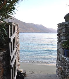Aegiali beach, Amorgos Island, Greece. Selected by www.oiamansion.com