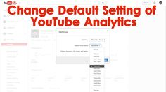 http://www.accountsguy.net/2015/03/youtube-analytics-settings.html  Using the Settings Button available in the YouTube Analytics page we can change the default Settings of the Analytics Report and here we can change the Currency, Period of the Analytics Reports. After we save the changes we can access the Analytics as per our settings instead of default settings in YouTube Account.