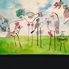 Day 9: Draw a Bird #cbdrawaday #creativebug by gayelynn33 http://ift.tt/1Rho7Xz