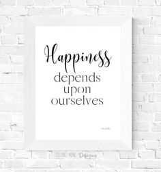Happiness, Printable quote, Printable poster, Wall art, Wall decor, Office wall decor, Gift, Inspirational by FelineNineDesigns on Etsy Printable Quotes, Printable Art, Printables, Office Wall Decor, Office Walls, Speech Room, Home Printers, Online Print Shop, Poster Wall
