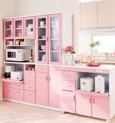 Kitchen cabinets? NOT pink though.