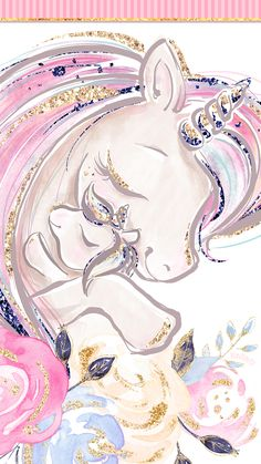 Phone Wallpapers HD Cute Unicorn Pink Glittery Gold Roses - by BonTon TV - Free Backgrounds wallpapers wallpaper pozadine bontontv 807270301938083114 Unicornios Wallpaper, Painting Wallpaper, Wallpaper Iphone Cute, Disney Wallpaper, Wallpaper Pink Cute, Rainbow Wallpaper, Kawaii Wallpaper, Galaxy Wallpaper, Wallpaper Quotes