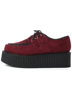 Creeper Platforms Shoes in Wine Red - New Arrivals - Retro, Indie and Unique Fashion