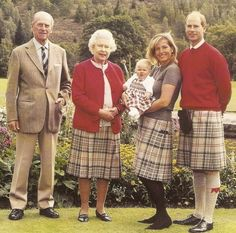 HRM Queen Elizabeth, II with her husband Prince Philip, son, Prince Edward, Countess Sophie and Lady Louise