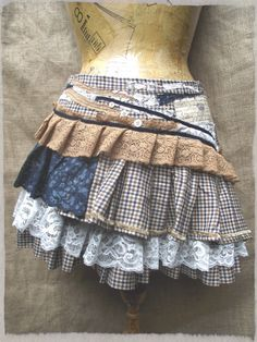 Etsy Transaction - Tweed ruffle skirt