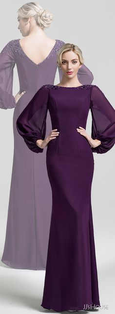 The special long sleeves design of this floor-length mother of the bride dress catches people's attention at the beginning! Click the picture to buy! Bridesmaid Dresses, Prom Dresses, Formal Dresses, Cocktail Dresses With Sleeves, Event Dresses, Groom Dress, Mermaid Dresses, Classy Outfits, Mother Of The Bride