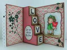 here is a slightly different version of the 4 step card.  blog gives a template which is in inches and centimeters