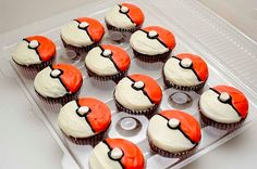 Pokeball cupcakes - not so much for a recipe, but for the design idea. baby shower