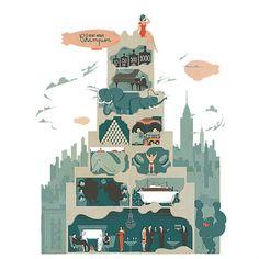 Walker Tower (NY). Illustration © Vesa Sammalisto. Booklet Illustrations, 2012. Commissioned by Pandiscio Co.