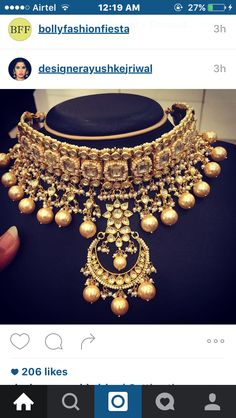Getting the gorgeous pieces for my upcoming shoot ready ! How gorgeous is this Indian Wedding Jewelry, Bridal Jewelry, Gold Jewelry, Gold Necklaces, Indian Bridal, Jewelry Sets, Bollywood Jewelry, India Jewelry, Cheap Jewelry