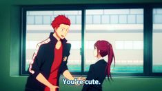 Free! ~~ Seijuurou confesses to Gou   GIF YESSS I SHIP THEM SO HARD THEY PERF…