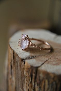 Vintage Rose Quartz Ring | Old Hollywood