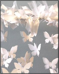 "Swarming Butterfly Chandelier Ingredients you will need: Butterfly punch, die-cut or Silhouette Digital Craft Cutter for cutting images (We used the Silhouette to cut a 2 ½"" butterfly.)- this is also a QuicKutz die that can be used in your..."