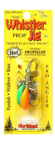 Northland Tackle Whistler Jig Assorted Colors 3 Pack