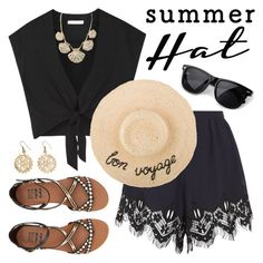 """""""Summer Hat"""" by lgb321 ❤ liked on Polyvore featuring Chloé, Alice + Olivia, Billabong, Kate Spade and Urbiana"""