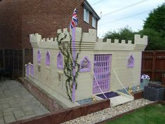 Play house castle built from scratch by the hubs and Dad :) (Playhouse Castle)