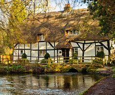 The 13th century Fulling Mill on the River Arle at Alresford in Hampshire by Anguskirk, via Flickr
