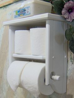 Hey, I found this really awesome Etsy listing at http://www.etsy.com/listing/116712708/toilet-paper-holder-white-shelf