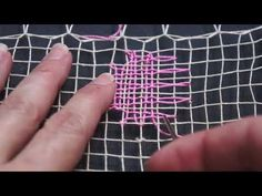 Capítulo 6, Bordado parte dos Curso básico - YouTube Mesh Netting, Filets, Diy And Crafts, Crochet, Tenerife, Folklore, Craft, Crocheted Lace, Hand Embroidery