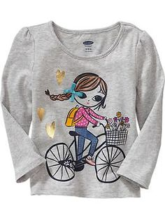 Embellished Graphic Tees for Baby