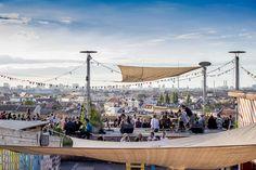 Klunkerkranich Neukölln -- Berlin arcade's concrete car park transformed into garden bar