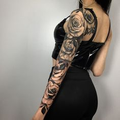 Have you ever considered closing the tattoos arm? - Have you ever considered closing the tattoos arm? Dope Tattoos, Badass Tattoos, Body Art Tattoos, Tattos, Tattoo Girls, Girl Tattoos, Arm Sleeve Tattoos, Sleeve Tattoos For Women, Girly Sleeve Tattoo