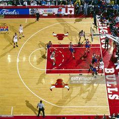 Fotografia de notícias : Aerial view of Chicago Bulls Michael Jordan in...