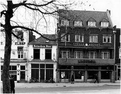 Hotel Poort van Kleef, Café White Horse en Hotel Limburgia aan de oostzijde van de Markt Auteur: Gemeente Eindhoven ~ Technische Dienst : Hagen, A. - 1974