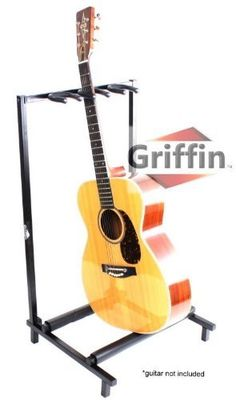 3 Triple Multiple Guitar Bass Stand Holder Stage Folding Multi Rack Griffin by Griffin Stands. $38.95. Here we're featuring a triple guitar stand by Griffin AP series. This deluxe multi guitar stand is a very strong and sturdy square guitar stand that can easily hold up to 3 guitars! Ideal for any guitarist, these multiple guitar stands can support all types of guitars including acoustic, electric and bass. Relax, your guitar finish is safe as this triple guita...