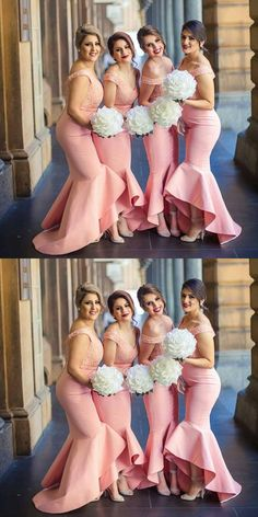 Bridesmaid Gowns chic off shoulder mermaid beaded bridesmaid dresses, fashion pink evening gowns, chic wedding party gowns. - Stunning Mermaid V-Neck Sleeveless Button Hi-Lo Lace Top Long Bridesmaid Dress Mermaid Bridesmaid Dresses, Lace Bridesmaids, Wedding Dresses, The Dress, Pink Dress, Pink Evening Gowns, Simple Dresses, Bridal Gowns, Party Gowns