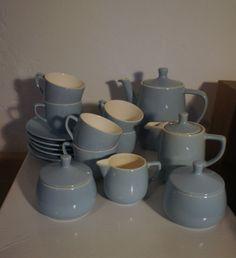 Melitta Minden Kaffegeschirr, hellblau, 50er Jahre