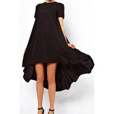 Asymmetric Pleated Sheer Black Dress | pariscoming